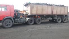 Камаз 5410. Продам тягач с самосвальным полуприцепом, 10 000 куб. см., 25 000 кг.