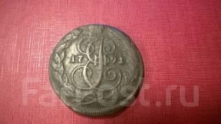 5 копеек 1791 год КМ