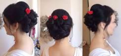 Свадебные прически. Мелирование. Плетение кос. Локоны на Баме. Мария