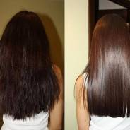 Полировка волос + реконструктор для запаивания кончиков