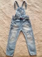Комбинезоны джинсовые. Рост: 98-104 см