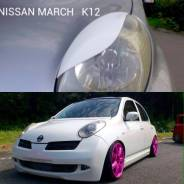 Накладка на фару. Nissan March, K12