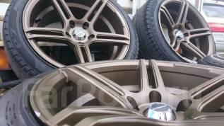 Как новые! Диповые R17 WEDS Sport + ЛЕТО 225/45 Pirelli P7. 9.0x17 5x114.30 ET25