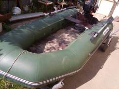 Golfstream Патриот. длина 2,90м., двигатель подвесной, 5,00л.с., бензин