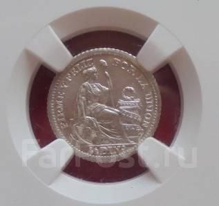 Перу 1/2 Динеро 1916 (MS - 65) Серебро