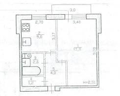 1-комнатная, пос. Березовый. Солнечный, агентство, 36 кв.м.