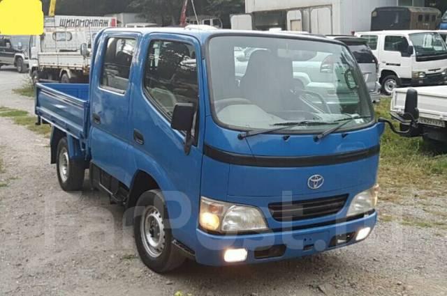 Toyota Dyna. 4WD, двухкабинник + борт, 3 000куб. см., 1 500кг.