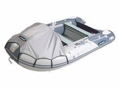Лодка ПВХ Gladiator D470AL Алюминиевый пайол + Тент Светло/темно-серая. Год: 2017 год, длина 4,70м., двигатель подвесной, бензин