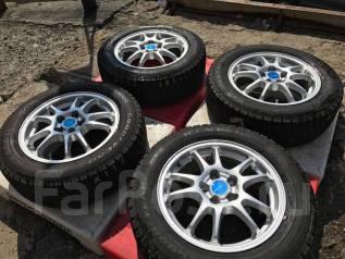 Диски Eco Forme R15 + шины как новые 185/65R15! Бесплатно до ТК! #117. 6.0x15 5x100.00 ET45
