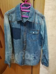 Рубашки джинсовые. Рост: 110-116 см