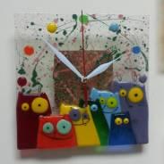"""Необыкновенный подарок! Часы """"Котятки-улыбаки"""", ручная работа!"""