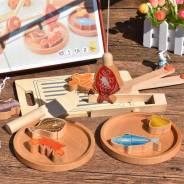 Деревянный набор рыбалка + посуда. В Наличии