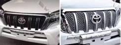 Решетка радиатора. Toyota Land Cruiser Prado, GRJ151, GRJ150W, GDJ151W, TRJ150W, TRJ150, GRJ151W, GRJ150, KDJ150L, GDJ150W, GDJ150L, GRJ150L Двигатели...