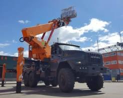 Hansin HS 4570. Автовышка Hansin HS450A на шасси URAL NEXT 6x6. 45 метров, 6 650 куб. см., 45 м.