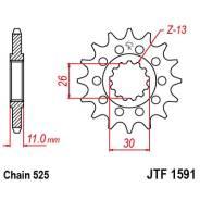 Звезда JT передняя JTF1591.16 #525 MT-07/09 FZ-07/09 FZ8 TDM900