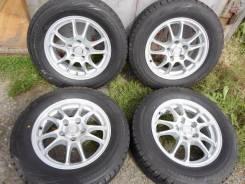 Новые зимние шины Бриджстоун 205/60 R15 на красивом легком литье 5/100. 6.0x15 5x100.00 ET45