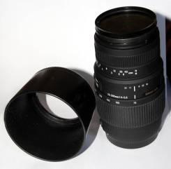 Объектив Sigma AF 70-300 mm F/4-5.6 DG Macro для Canon. Для Canon, диаметр фильтра 58 мм