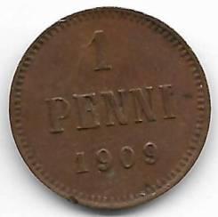 1 пенни 1909г. Россия для финляндии.