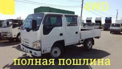 Isuzu Elf. 4WD, двухкабинник + борт 2 тонны, 3 000 куб. см., 2 000 кг.