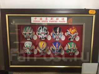 Сувенир Картина с масками Пекинской оперы