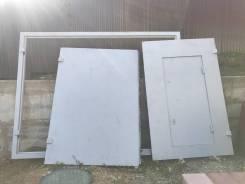 Продам гаражные ворота с калиткой 2.3x3м