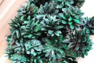 Шишки для декора и творчества зеленая