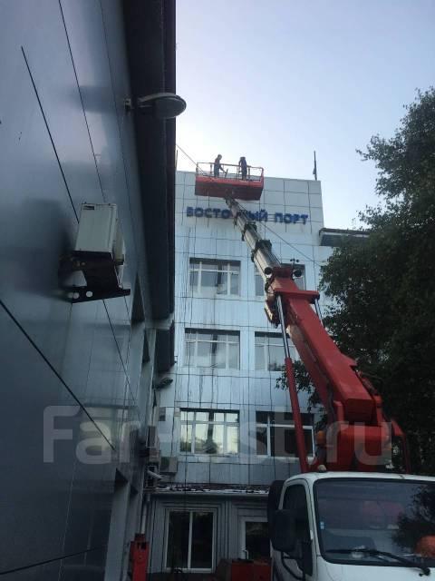Аренда услуги автовышка люльки 28, 45, 48 метров Мойка фасадов 2 гис