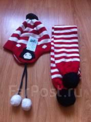 Шапка и шарф. Рост: 104-110, 110-116, 116-122, 122-128 см