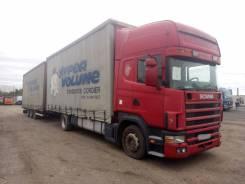 Scania R124. Шторный автопоезд , 11 700 куб. см., 30 000 кг.
