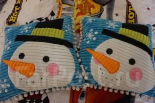 Подушки декоративные новогодние 2 штуки комплект