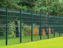 Забор 3D, секционный, металл+PVC, калитки и ворота