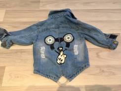 Куртки джинсовые. Рост: 80-86, 86-98, 98-104 см