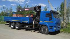 Камаз 65117. Бортовой автомобиль Камаз-65117 с КМУ Horyong HRS206, 8 700 куб. см., 12 200 кг.