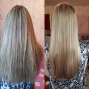 Кератиновое выпремление и окрашевание волос