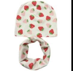 Шапка и шарф. Рост: 80-86, 86-92, 92-98 см