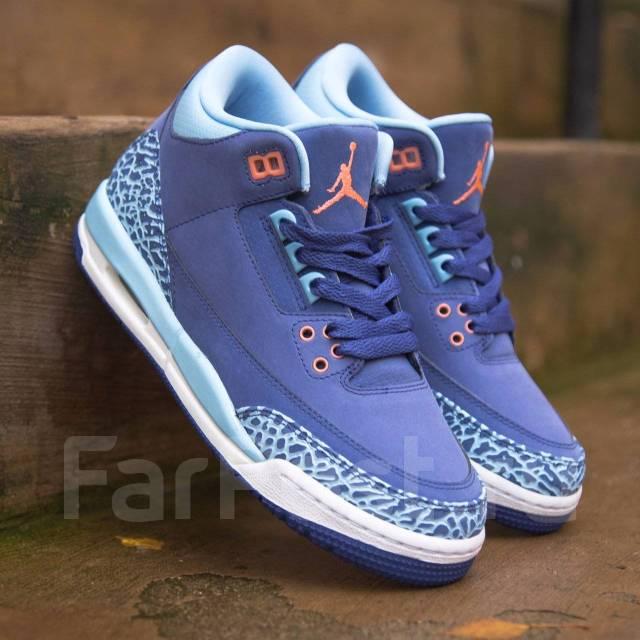 Брендовые Женские Кожаные Кроссовки Nike Air Jordan 3 Retro 441140 ... 80eae3b6fed
