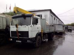 МАЗ 53366-021. Бортовой грузовик с манипулятором, 14 860 куб. см., 2 930 кг.