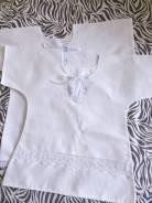 Рубашки крестильные. Рост: 74-80, 80-86, 86-92, 92-98 см