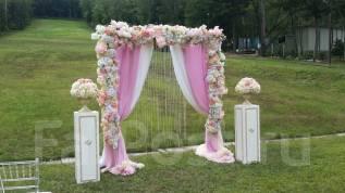 Декор стильной выездной регистрации. Ваша красивая свадьба