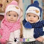 Шапка и шарф. Рост: 74-80, 80-86, 86-92, 92-98 см