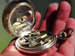 Карманные часы. Швейцария, серебро, редкий мех. Прикоснись к истории. Оригинал