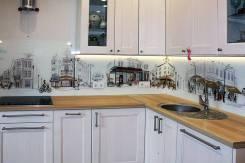 Кухонные фартуки, обработка стекла и зеркал