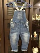 Полукомбинезоны джинсовые. Рост: 80-86, 86-98 см