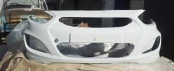 Новый передний бампер вашего цвета Hyundai Solaris RB 2010 - 2014