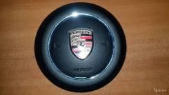 Подушка безопасности Крышка подушки airbag в руль Porsche Cayenne 2014- черная