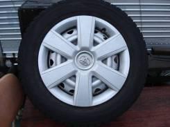 Комплект зимних шин на дисках+колпаки Dunlop DSX-2 195/65 R15. 6.0x15 4x100.00, 4x114.30