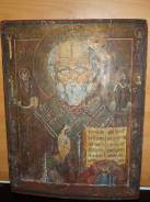 Икона храмовая Николай Чудотворец 19в. 47х36. Оригинал