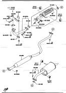 Приемная труба глушителя. Mazda Premacy, CP8W, CPEW Ford Ixion, CP8WF