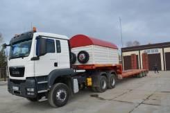 MAN TGS 33.430. Продам c тралом ТСП политранс грузоподъемностью 40тн, 10 518 куб. см., 90 000 кг.