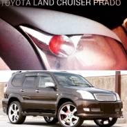 Накладка на фару. Toyota Land Cruiser Prado, GRJ120, GRJ120W, GRJ121, GRJ121W, GRJ125, GRJ125W, GRJ150, GRJ150L, GRJ150W, KDJ120, KDJ120W, KDJ121, KDJ...